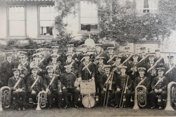 The prize-winning Lymington Town Band