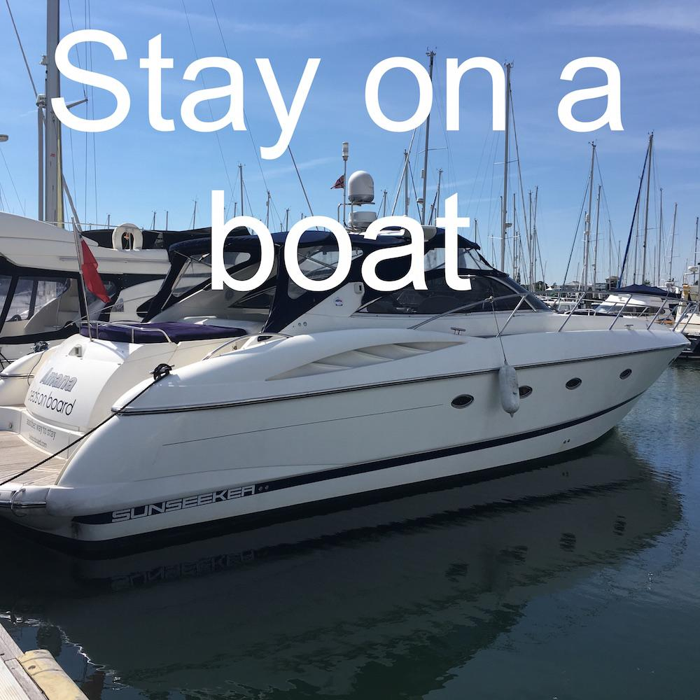 Stay on a boat in Lymington