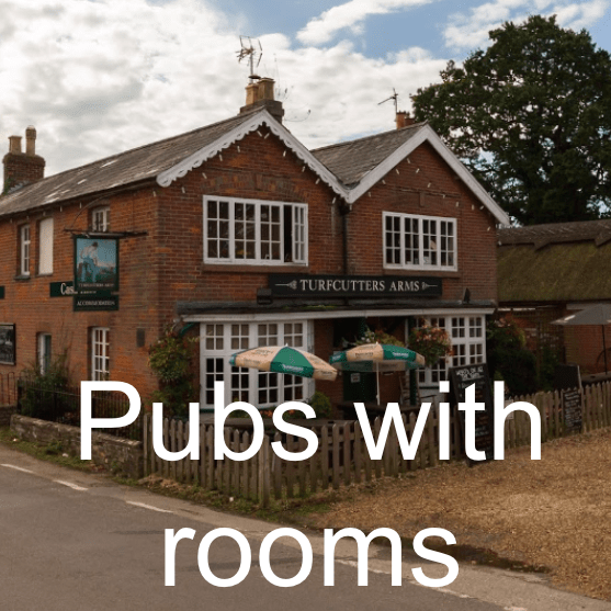 Pubs with rooms in Lymingon and the New Forest