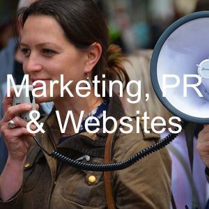 business marketing PR and websites
