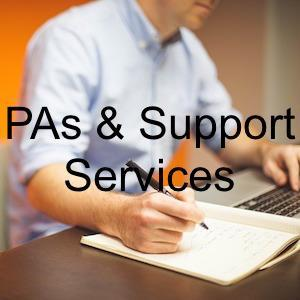 business support services, secretaries and Pas