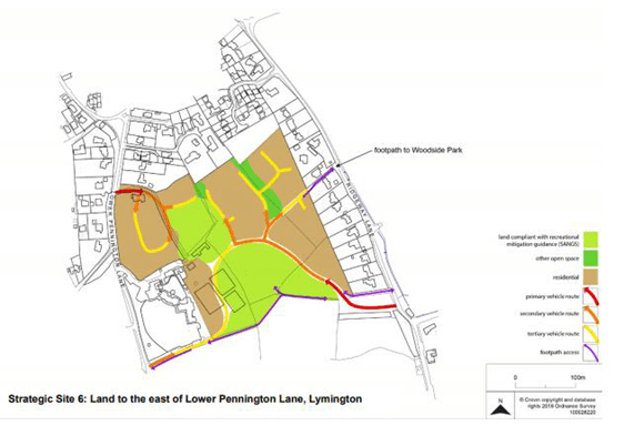 plan of proposed development off Ridgeway Lane