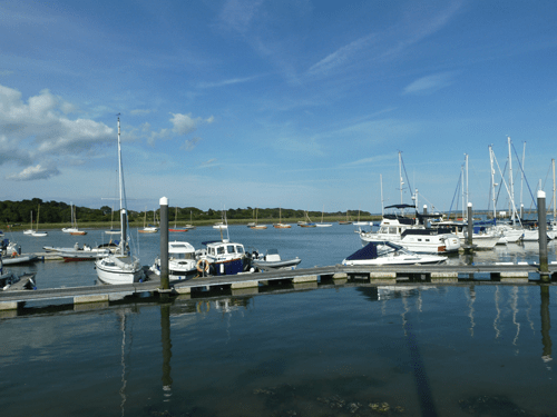 boats on lymington river