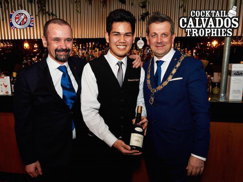 The President of the UK Bartender's Guild, Luca Cordiglieri, Kris Insatorn and Salvatore Damiano, Chairman of the southern UK Bartender's Guild.