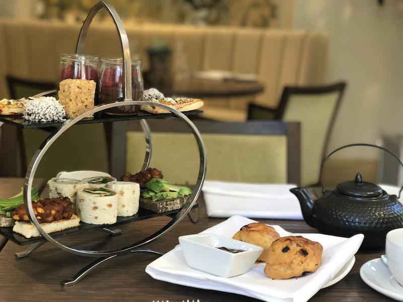 Vegan afternoon tea at Careys Manor