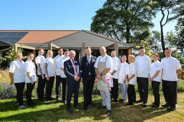 Colten Care chefs enjoyed a day's training in The Kitchen cookery school at the New Forest's Chewton Glen Hotel and Spa under the guidance of award-winning Chef Tutor Steve Bulmer.