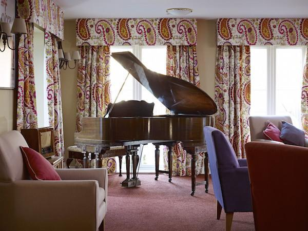 Grand piano at Linden House in Lymington