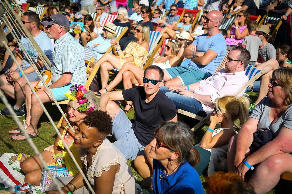 Festival audience at Curious Arts Festival in Lymington 2016