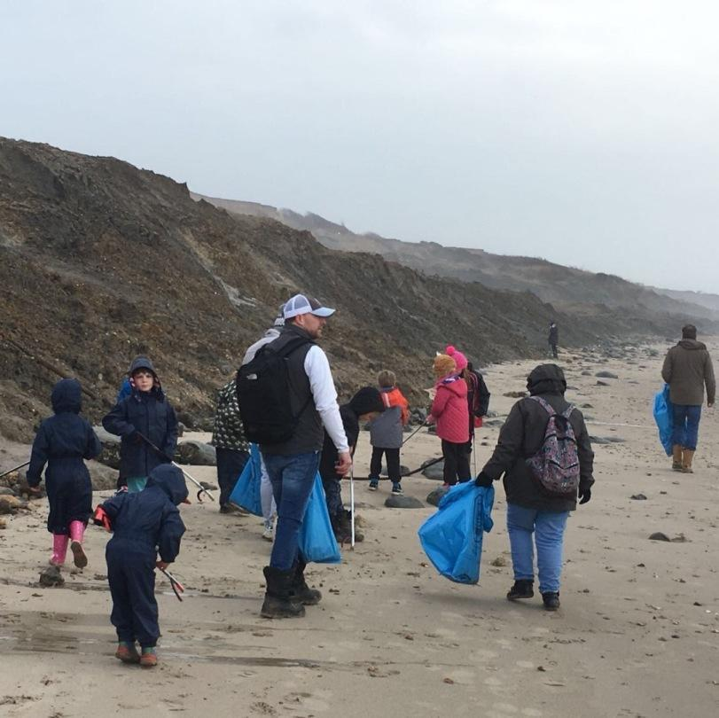 durlston court prep school beach clean mar18