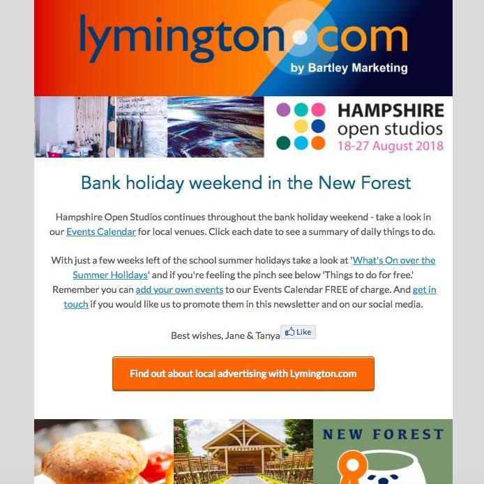 Lymington New Forest Newsletter 24 August 2018