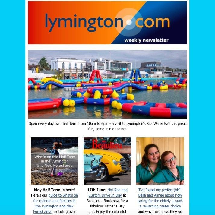 Lymington Newsletter 25 May 2018