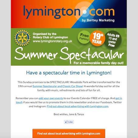 Lymington and New Forest Newsletter 3 August 2018