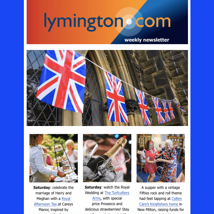 Lymington newsletter 18 may