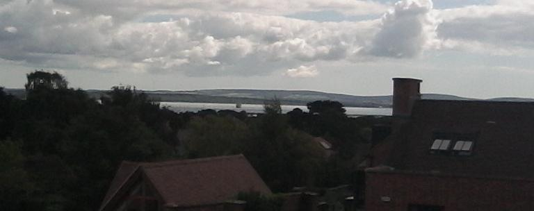 The Solent view from Island View holiday self catering holiday apartment Lymington