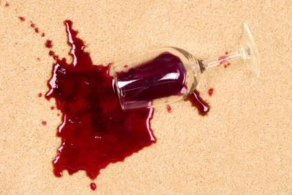 How to deal with wine spills and stains