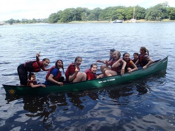 Children's kayaking and canoeing birrthday parties New Forest Activities