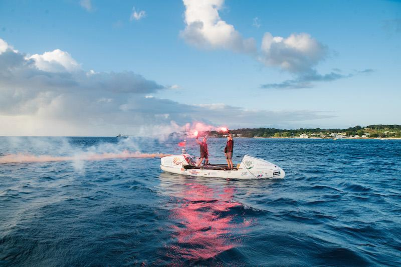 The Ocean Brothers celebrate the end of their 3000 unsupported row across the Atlantic by Adam Rowley Creative https://www.adamrowleycreative.com