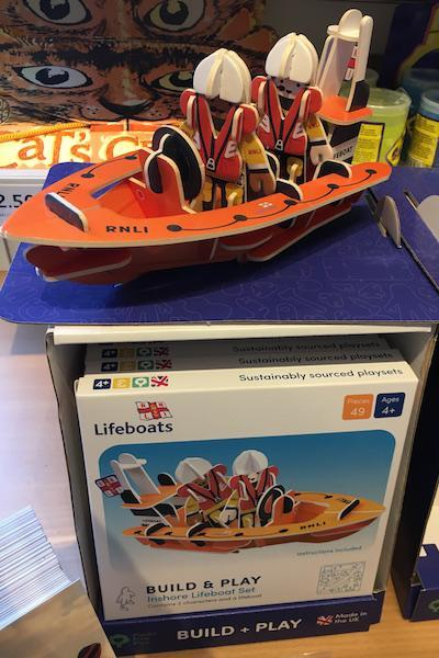 RNLI toys at the souvenir shop