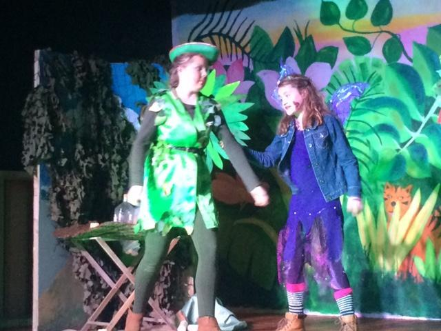 The Pilley Players performing Peter Pan in East Boldre
