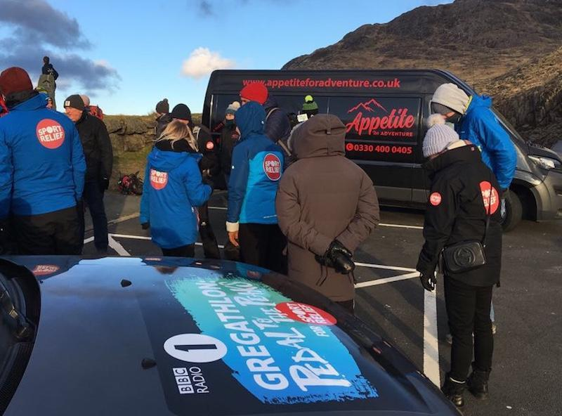 Appetite for Adventure Van Gregathlon vehicle at Snowdon
