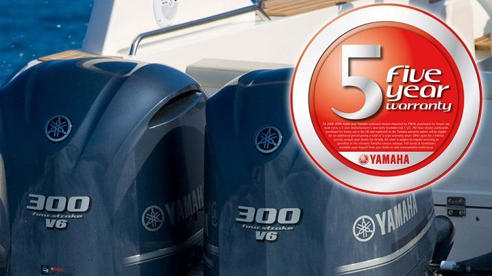yamaha 5 year warranty at BHG Marine