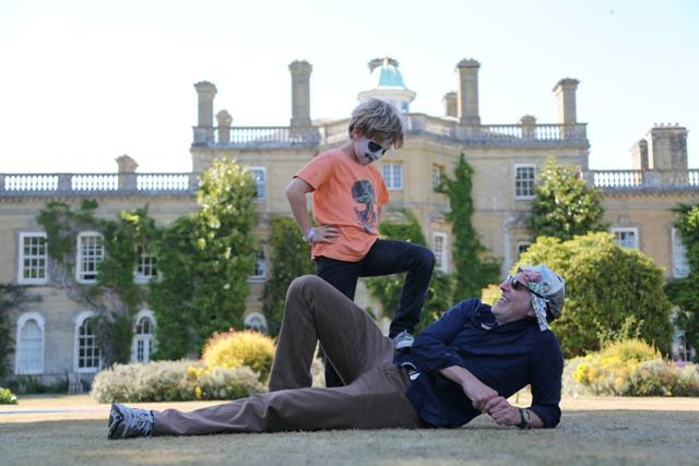 Simon Evans with son Edward at last year's Curious Arts Festival