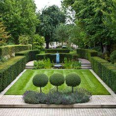 formal garden highlighting voids and masses