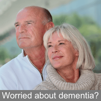 Couple worried about dementia