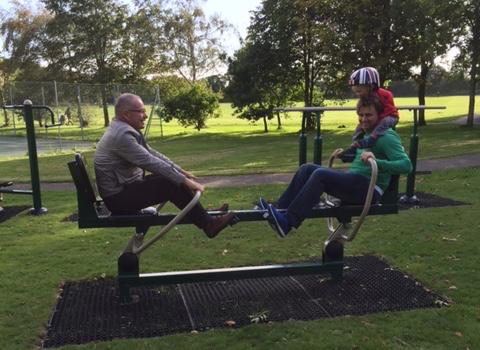 Lymington's new outdoor gym at Woodside Gardens is now open