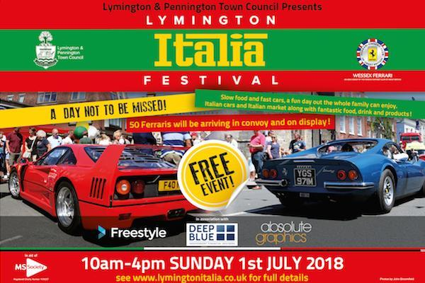 2018 Lymington Italia Festival supporting local MS Society branch
