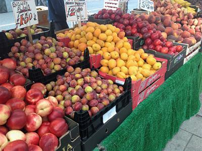 Lymington Market fruit stall