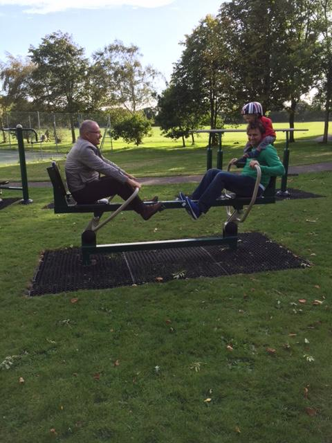 Rowing machine at Lymington Woodside Gardens Outdoor Gym