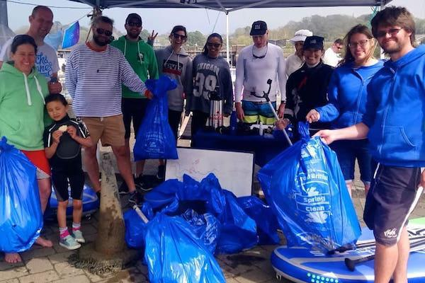 New Forest Paddle Sport Company SUP vs Single Use Plastic 22 April 2018