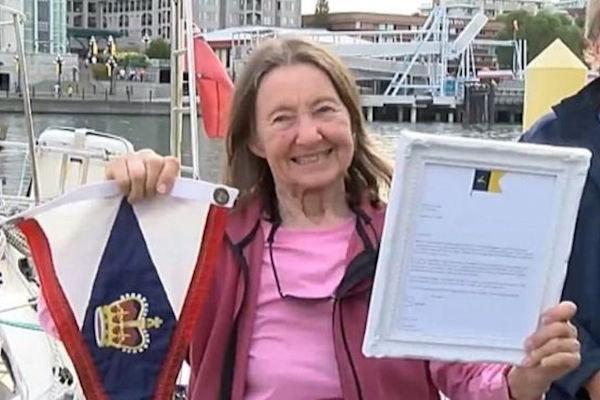 Lymington grandmother is oldest person to sail solo round the world