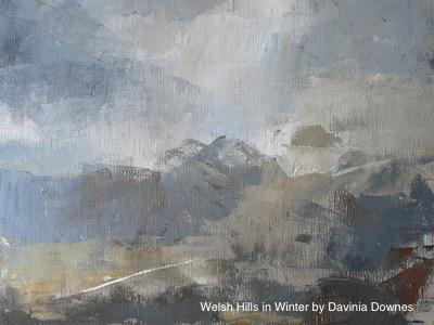 Best Painting Davina Downes Welsh Hills in Winter 2019