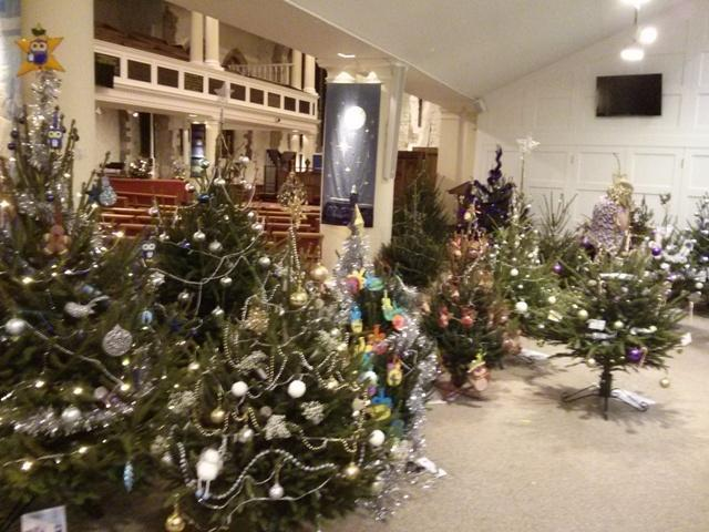 christmas tree festival st thomas jane thurs1jpg - Enchanted Forest Christmas Trees