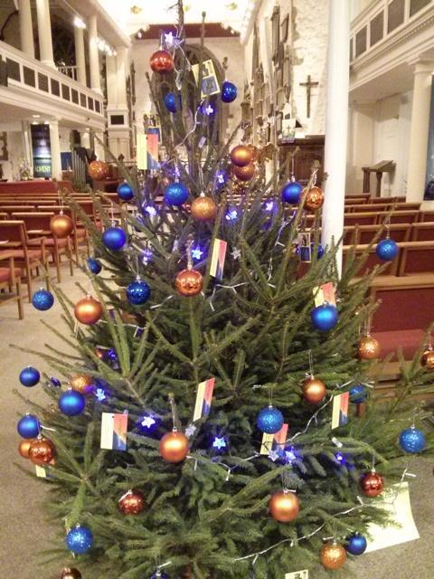 christmas tree festival at St Thomas Church Lymington