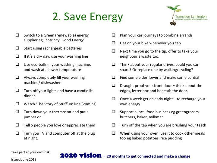 Save energy in Lymington