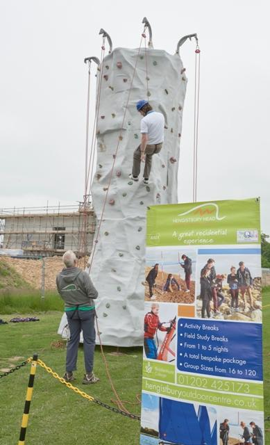 climbing wall at brockenhurst college