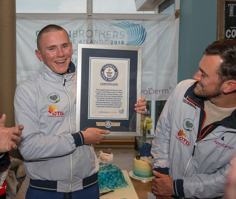 Photo Credit: Adam Lynk - Ocean Brothers with Guinness World Record certificate