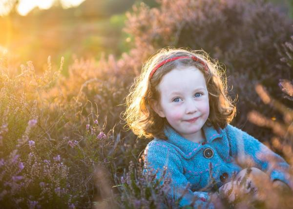 Stunning childrens portraits in The New Forest sunset