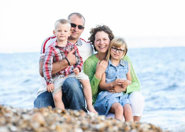 Family lifestyle portraiture on the beach in Hampshire and Dorset