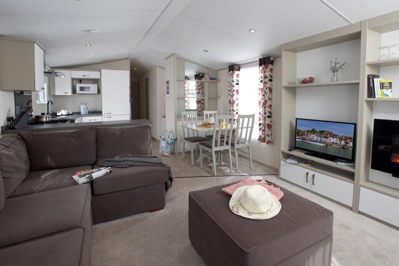 Modern and comfortable caravan accommodation