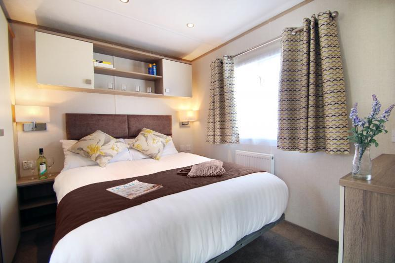 Double Master bedroom of a Supreme Caravan at Shorefield Country Park