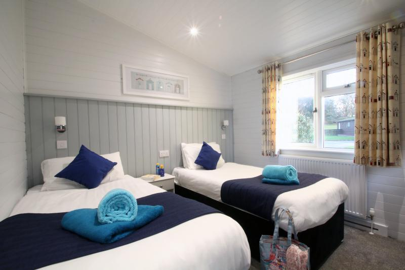 Stunning self-catering lodge accommodation (Pictured: Select+ and Superior+ lodges at Shorefield Country Park)