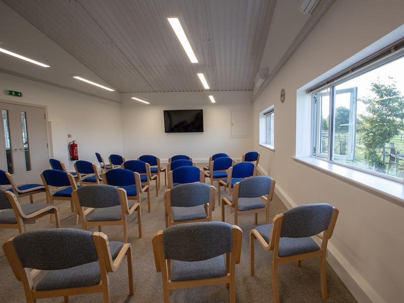 Meeting room with a view at Tilefield Equestrian New Forest Hampshire