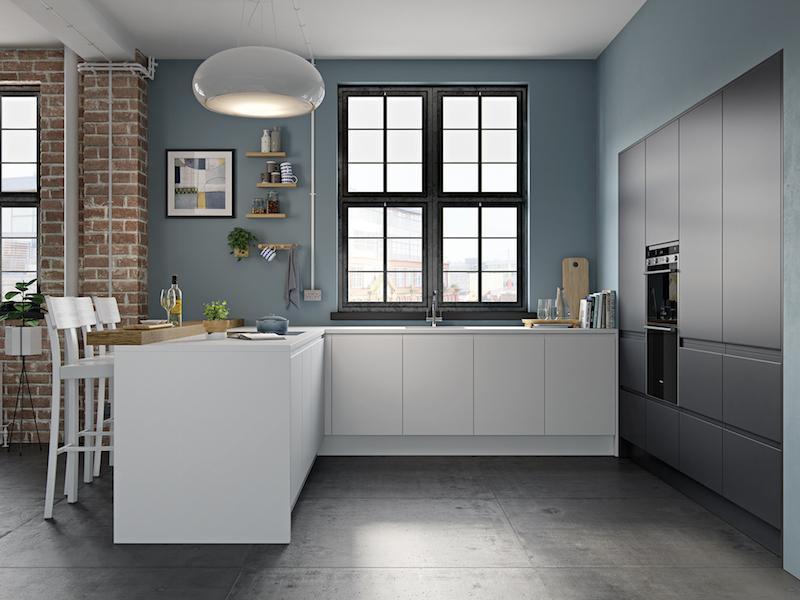 Crestwood of Lymington kitchen - Brook in Matt White / Graphite