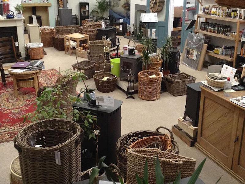 Baskets at the New Forest Wood Burning Centre