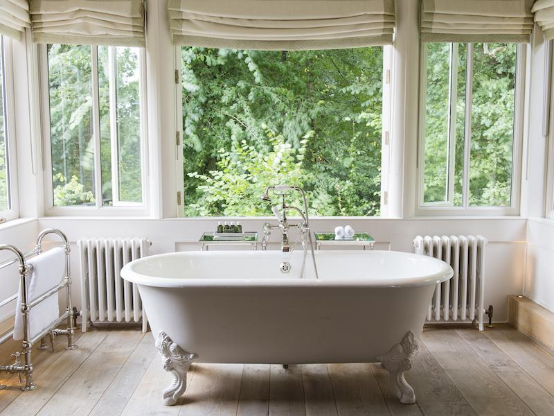 Luxury Bath at New Forest hotel Lime Wood