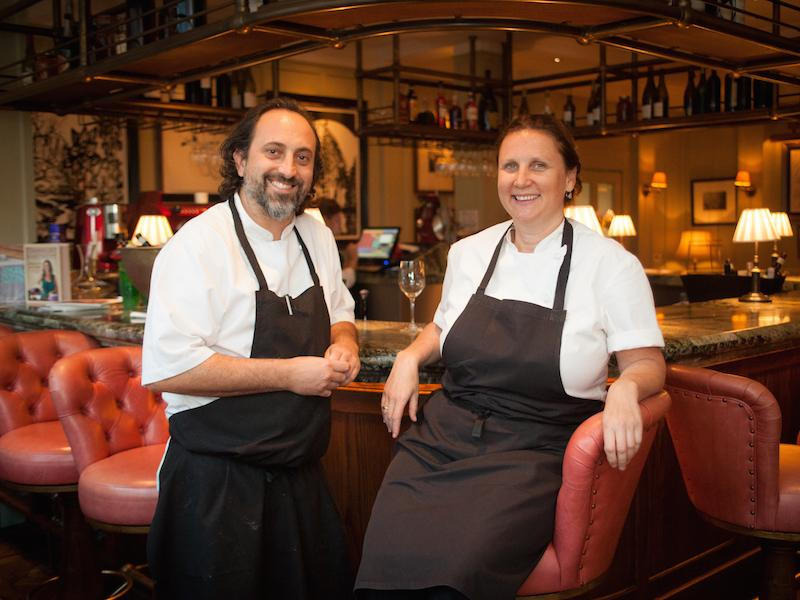 Luke Holder and Angela Hartnett Lime Wood
